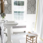 How I Painted Our Bathroom S Ceramic Tile Floors A Simple And Cheap Diy Driven By Decor