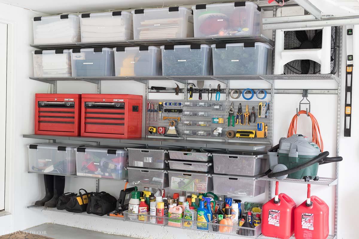 Garage Organization: Tackling Our Crazy Mess of a Garage ... on Organized Garage  id=62785