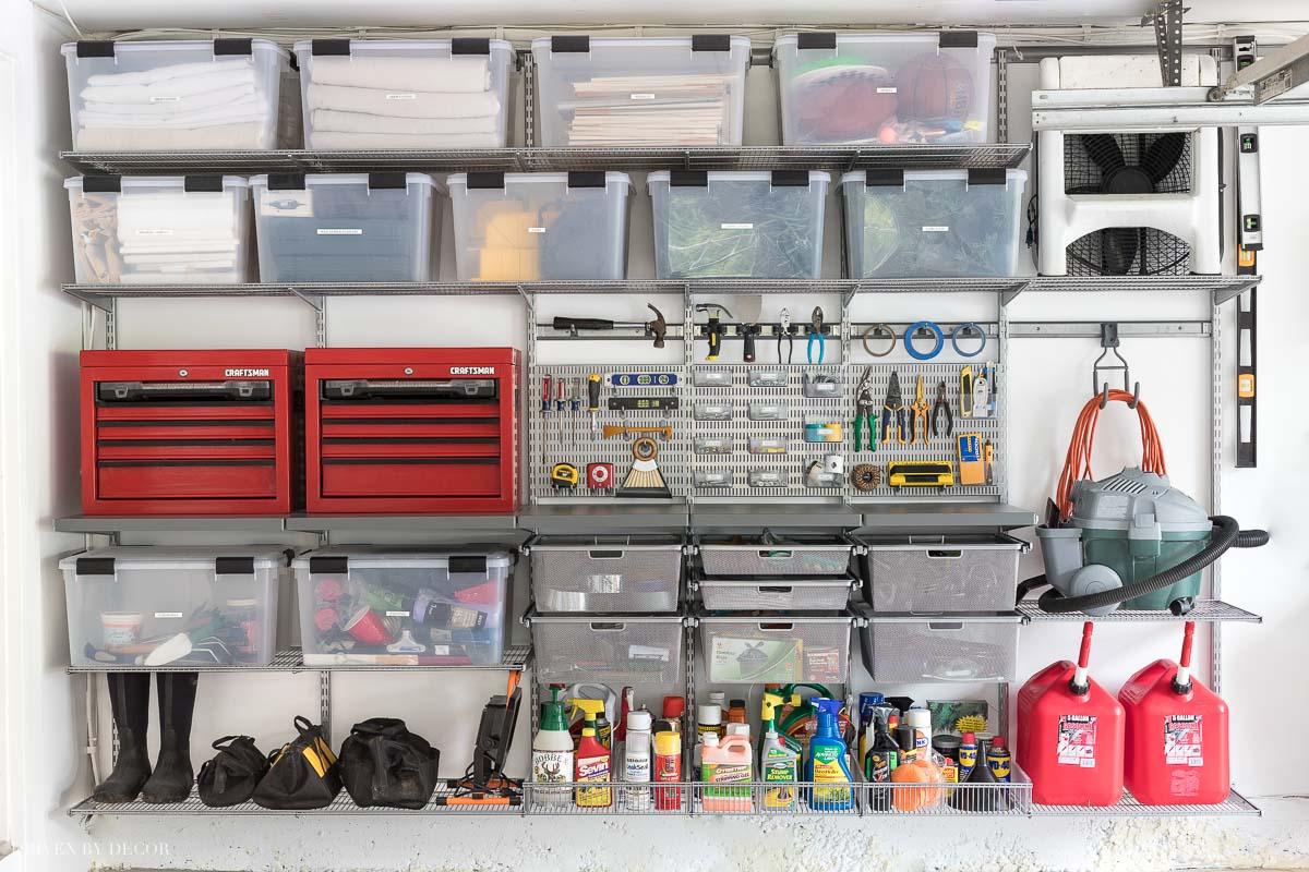 Garage Organization: Tackling Our Crazy Mess of a Garage ... on Organized Garage  id=58897