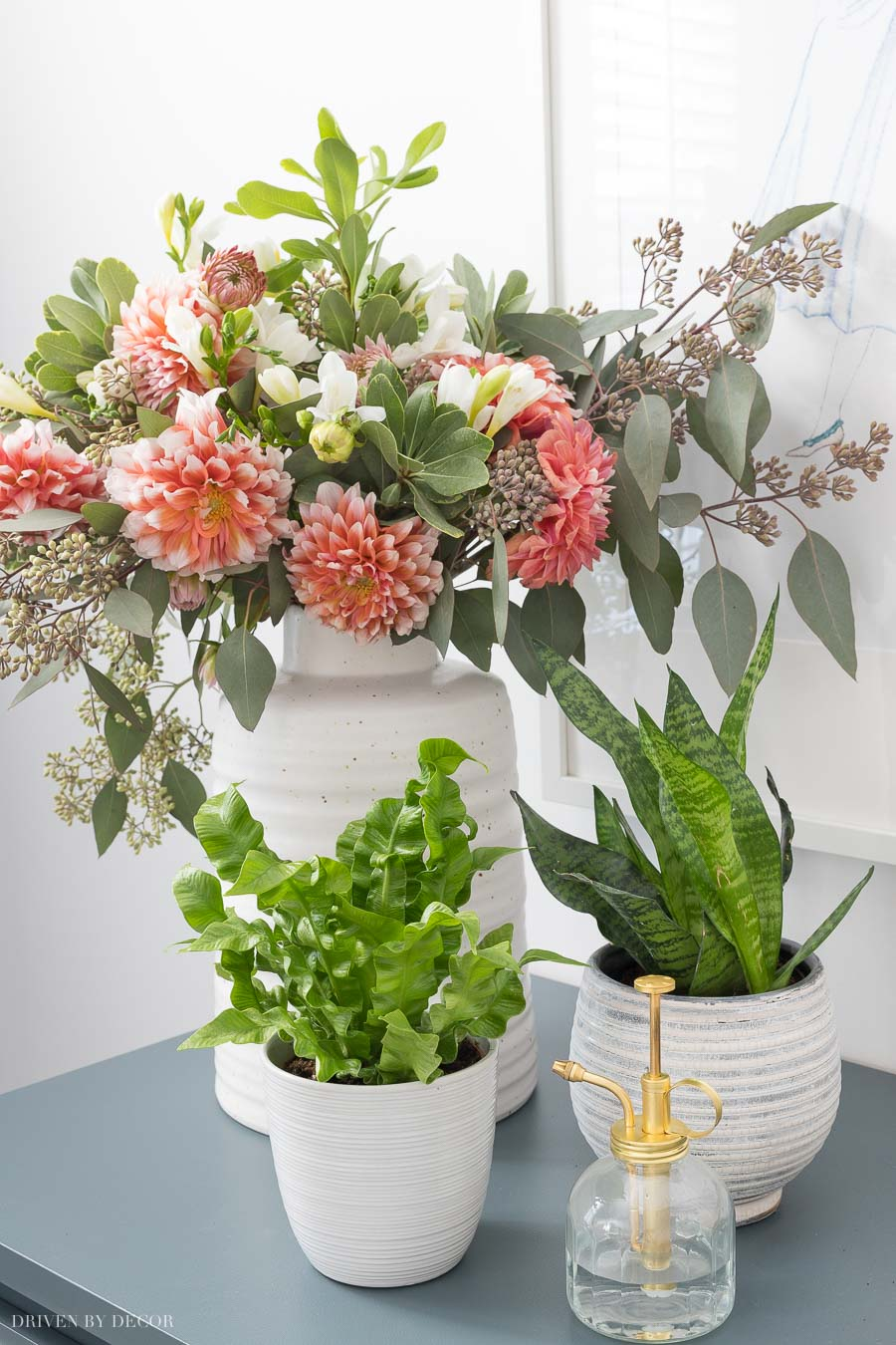 Gorgeous textured white planters and vases!