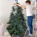 How To Flock A Christmas Tree Step By Step Driven By Decor