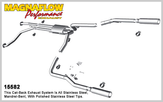 2010 2012 nissan titan 5 6l v8 stainless cat back dual exhaust