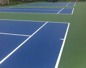 tennis court surfacing