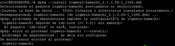 Hamachi Linux lsb-core error install