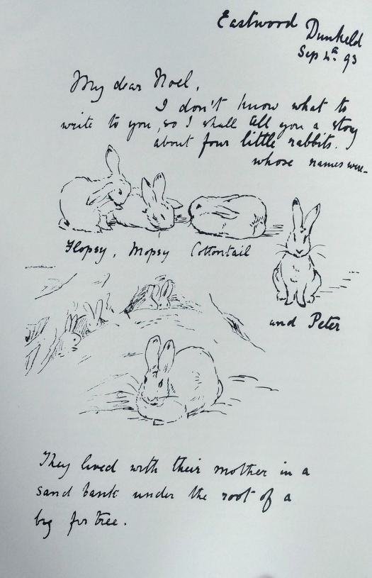 Beatrix Potter Noel Moore Peter Rabbit early letter