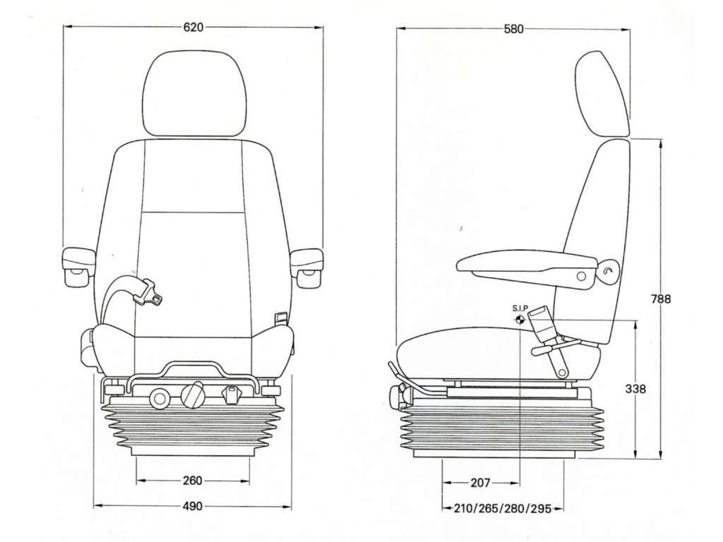 Kab 811 Seat Forklift Terex Matbro