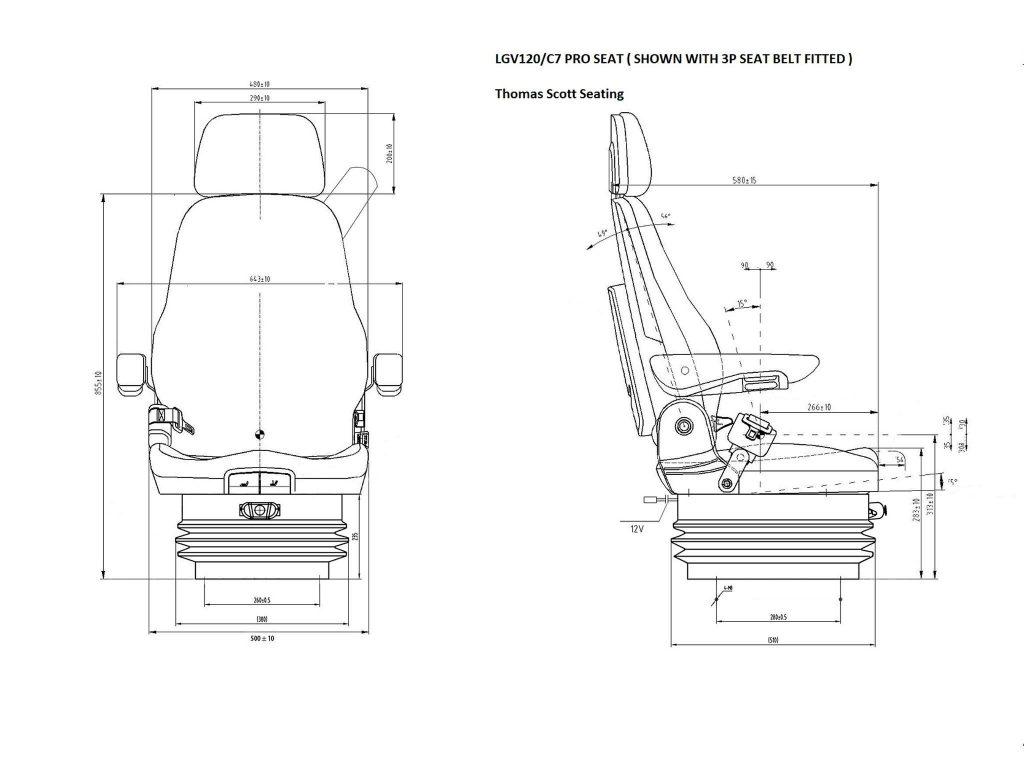 Lgv120 C7 Pro Seat Heavy Duty For Construction Marine Useage