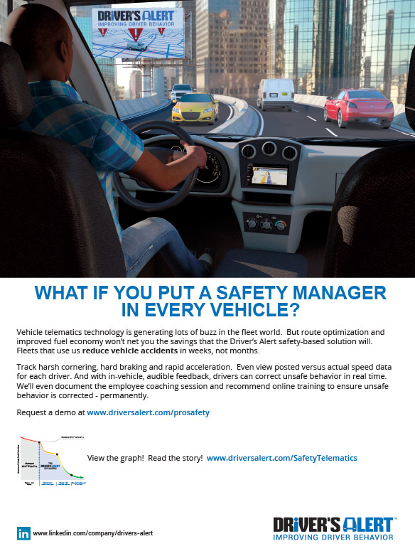 Safety telematics puts a manager in every vehicle to improve driver behavior!