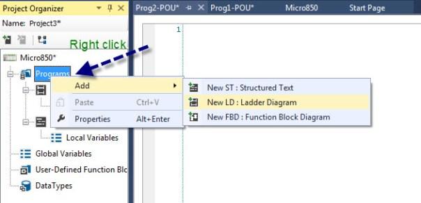 PLC programming environment - CCW -