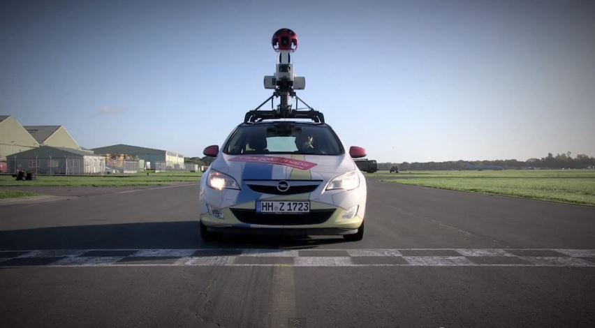 Google Street view Opel Astra Top Gear track