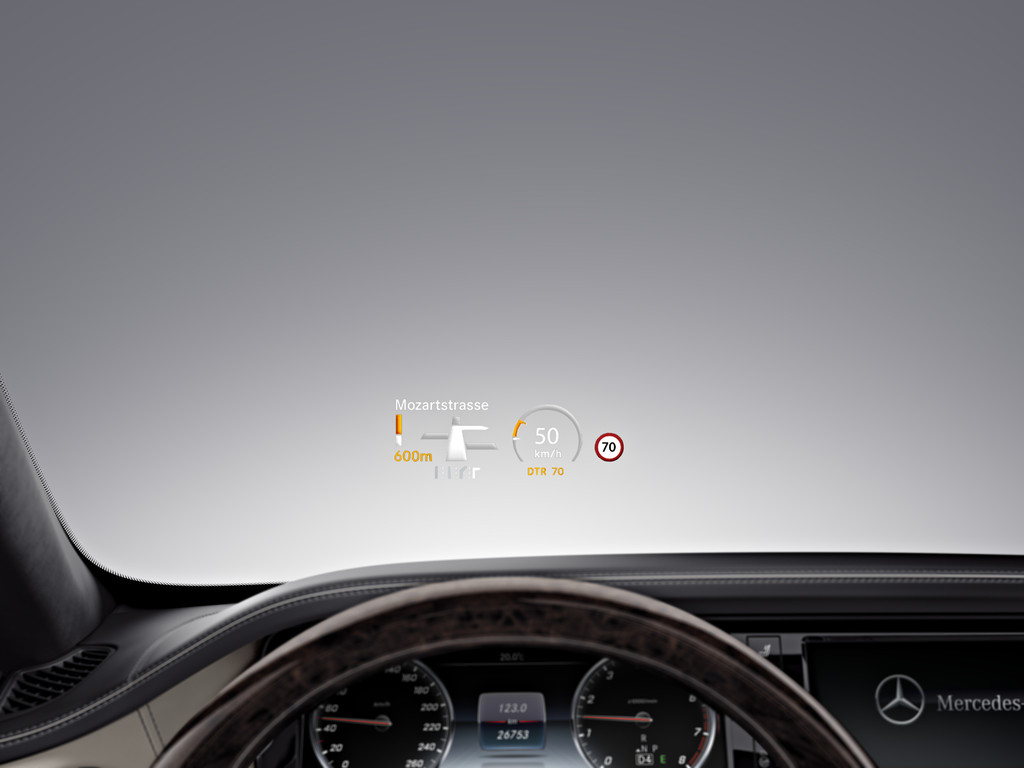 Mercedes S-klasse innovatie head up display hybrid 2014 01