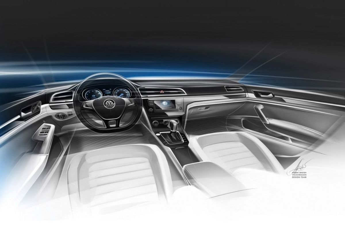 Volkswagen NMC Concept MQB New Midsize Coupe rood 2014 08
