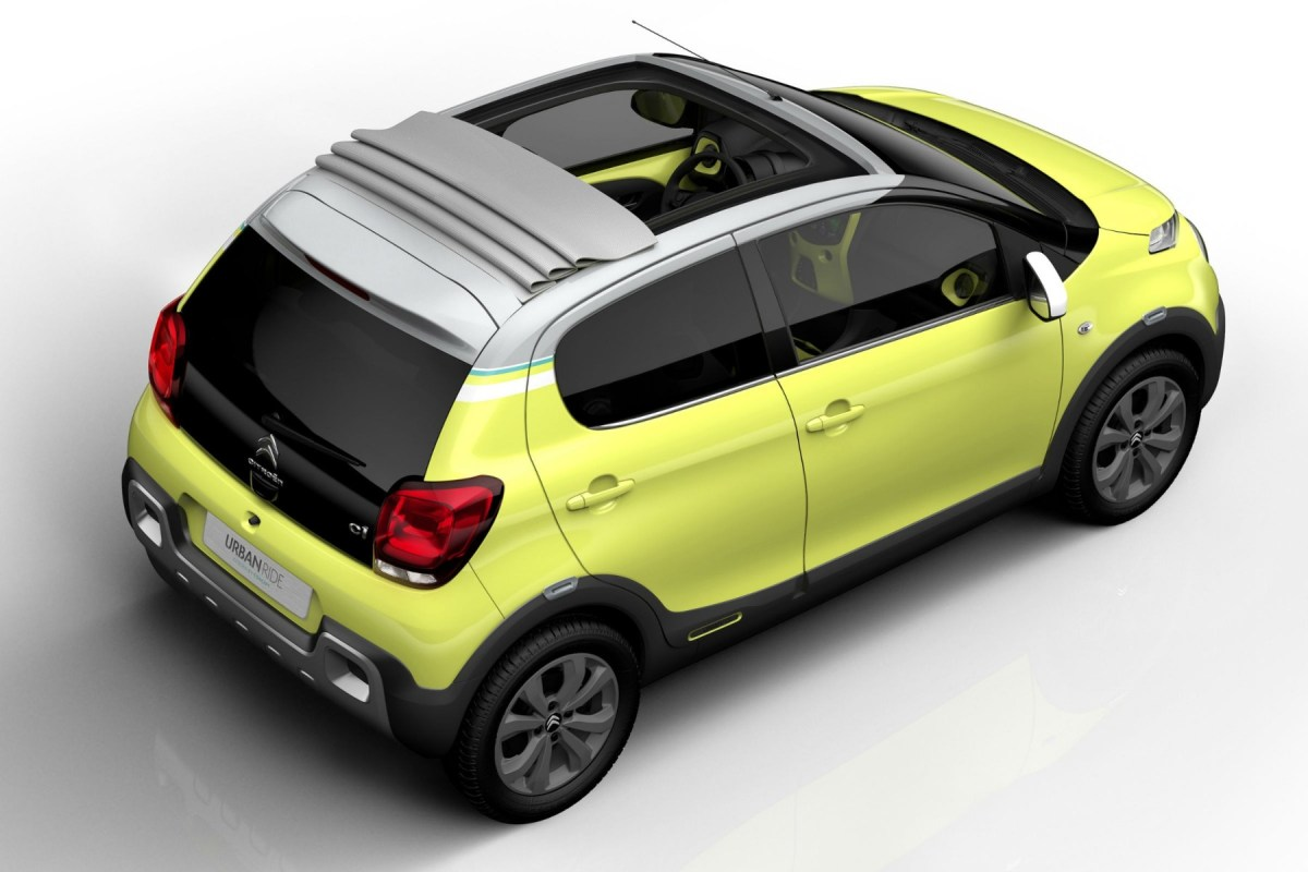 Citroen C1 Urban Ride Concept geel 2015 03