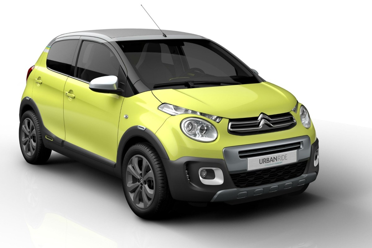 Citroen C1 Urban Ride Concept geel 2015 04