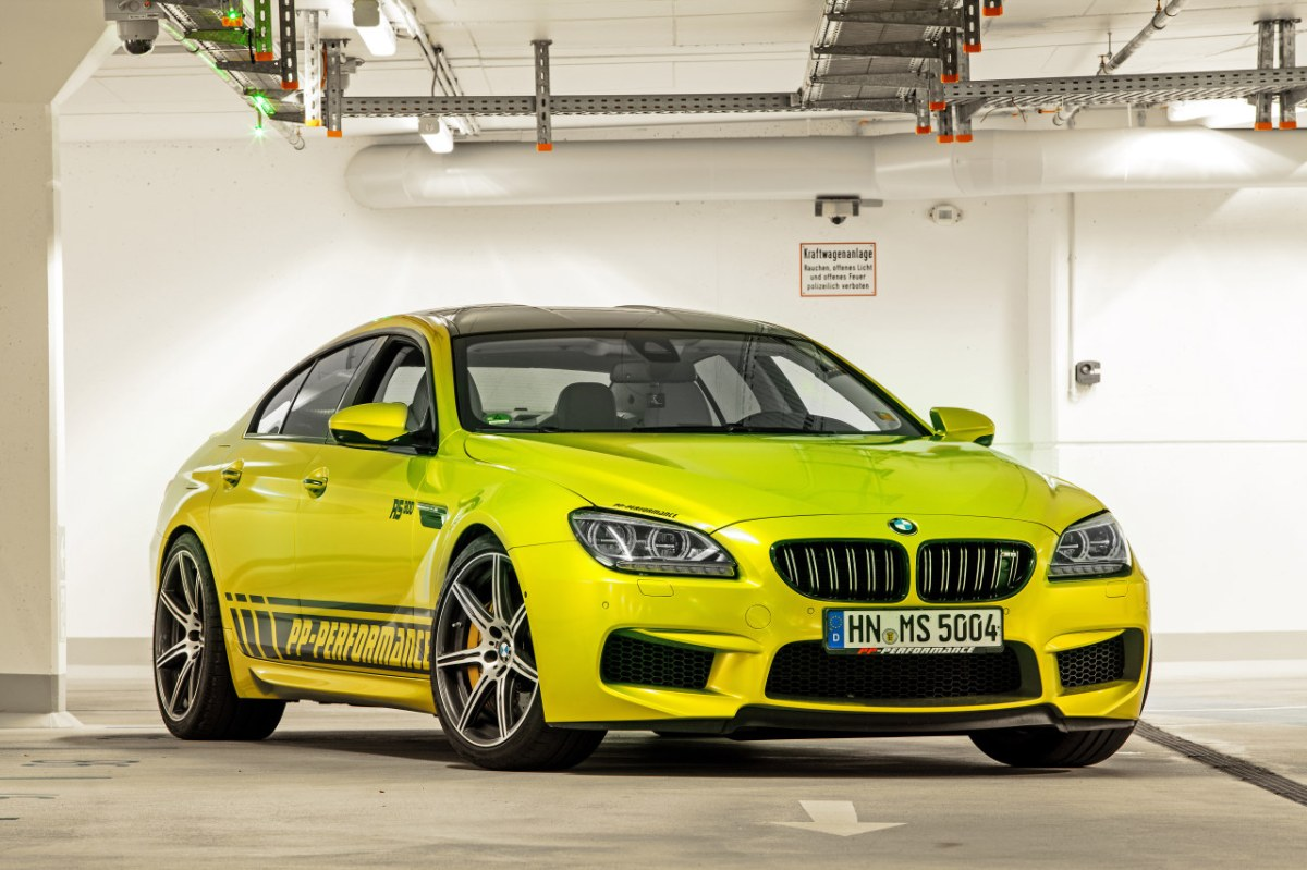 PP-Performance BMW M6 Gran Coupe Electric Lime geel 2014 01