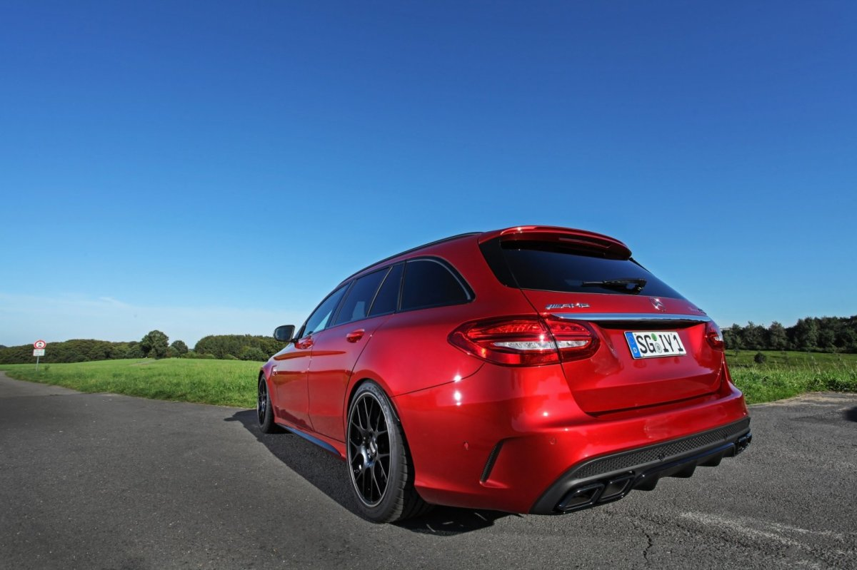 Wimmer Mercedes C63 S AMG rood 2015 10