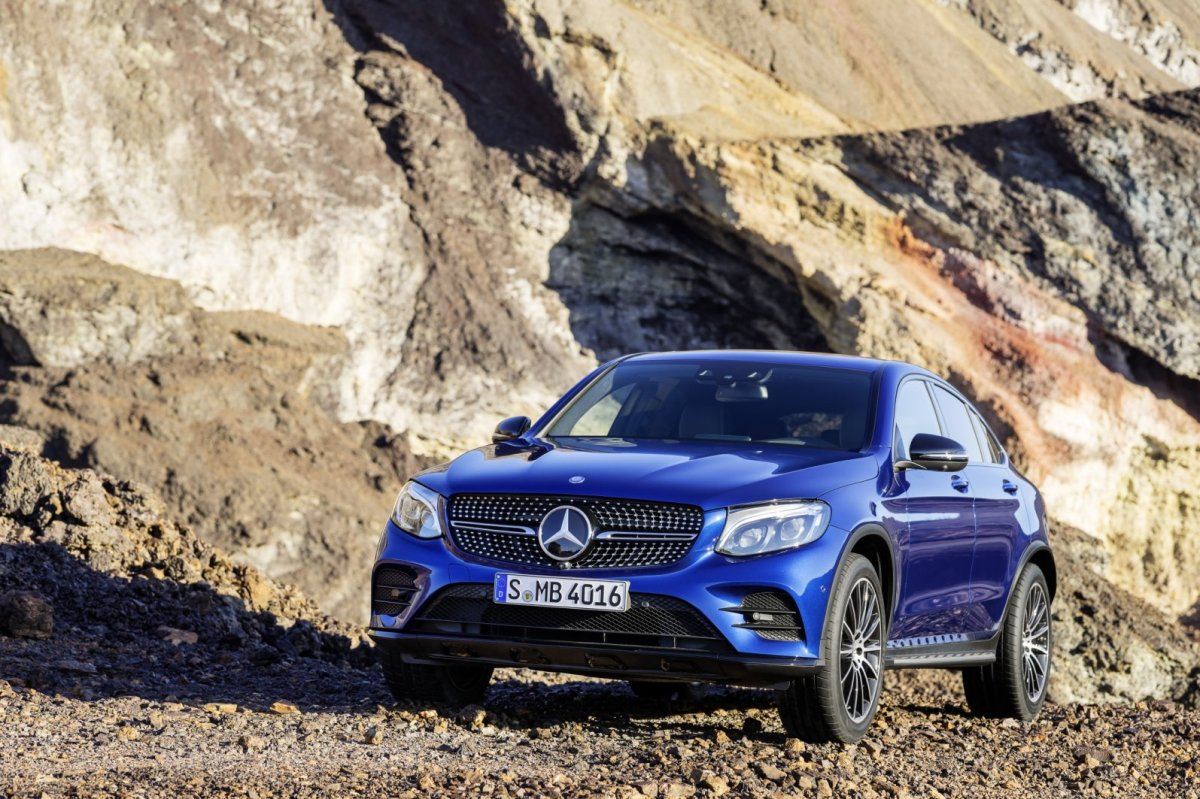 Mercedes GLC Coupe SUV 4-Matic blauw 2017 17