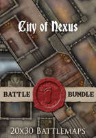 City of Nexus | 20x30 Battlemaps [BUNDLE]