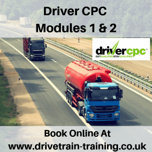 Driver CPC Modules 1 and 2 Mon 20 May 2019