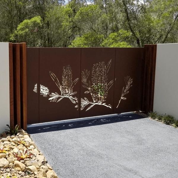 Laser Cut Sliding Driveway Gate