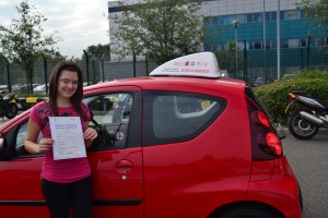 Automatic Driving Lessons Palmers Green. Sevim passed her driving test at the first attempt.