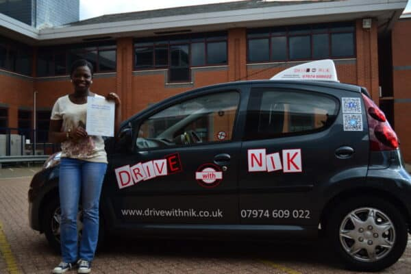 Hagar passed her practical driving test with Drive with Nik