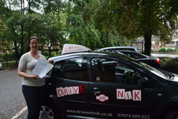 Olivia passed her manual practical driving test first time with Drive with Nik