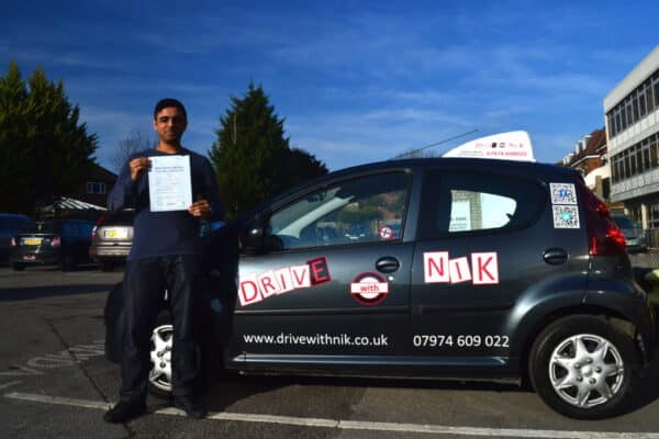 Bilal passed his manual practical driving test first time with Drive with Nik