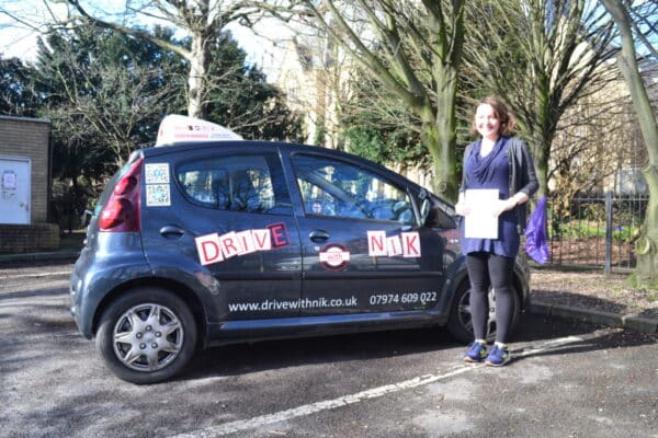Angharad passed her manual practical driving test first time with Drive with Nik