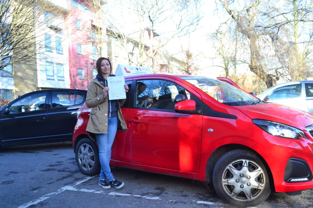 Automatic riving lessons Hornsey Shenay passed her driving test with Drive with Nik