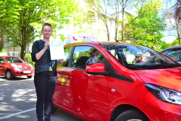 Automatic driving lessons East Finchley Emilia passed her practical driving test first time with Drive with Nik