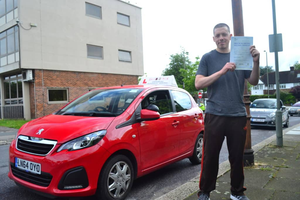 Automatic Driving Lessons Palmers Green. Josh passed his driving test with only one driving fault.