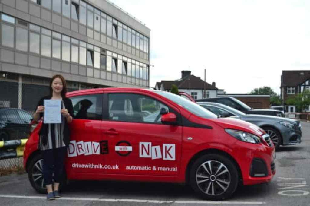 Automatic Driving Lessons Southgate. Rui passed with Drive with Nik.