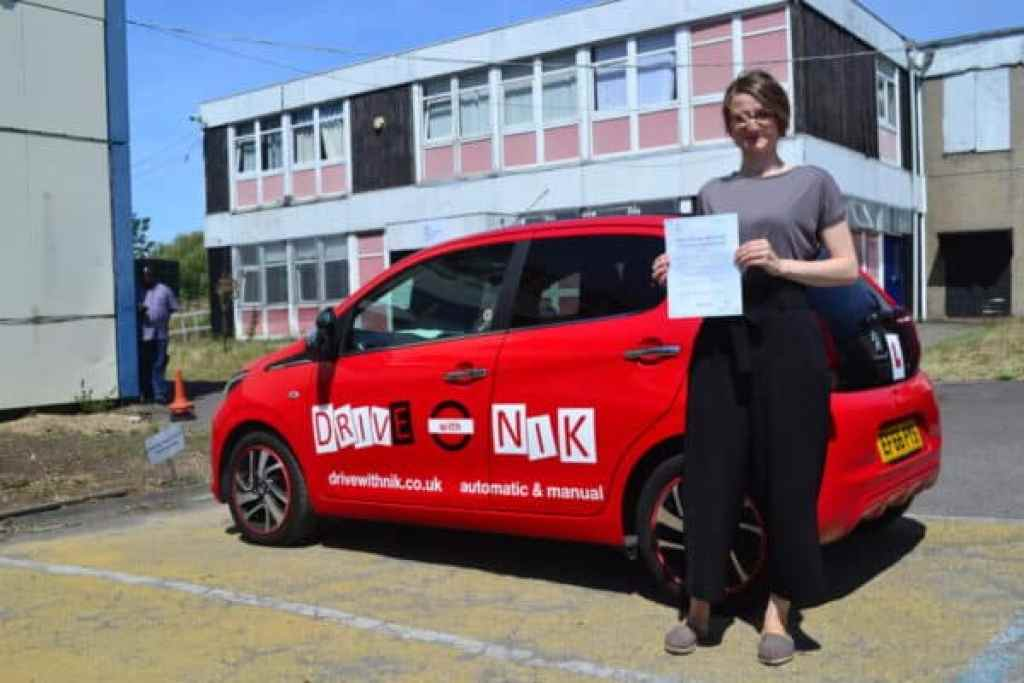 Manual Driving Lessons Haringey. Marta passed her practical driving test first time with Drive with Nik.