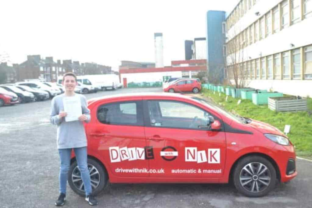 Automatic Driving Lessons Crouch Hill. Michael passed his automatic driving test first time with Drive with Nik.