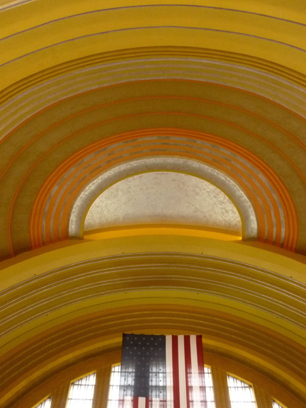 Rotunda dome of the Union Terminal in Cincinnati.