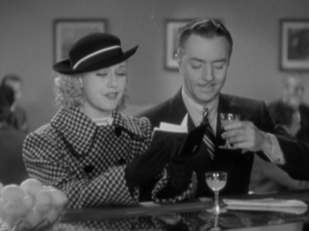 Ginger Rogers and William Powell enjoying a Bronx Cocktail in the 1935 R.K.O. film Star of Midnight.