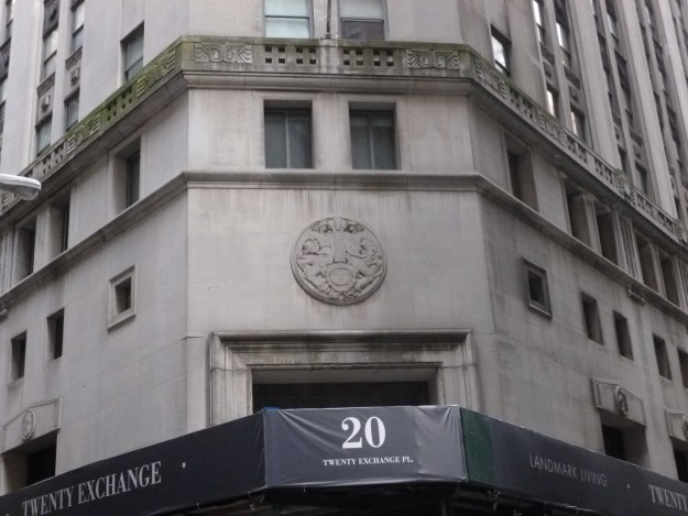 Entrance at 20 Exchange Place.