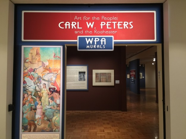 The entrance to the Carl W. Peters exhibition at the Memorial Art Gallery.
