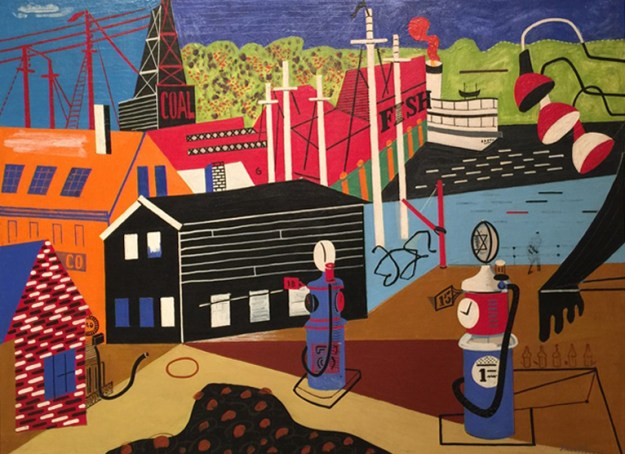 Landscape with Garage Lights, 1931-1932, Stuart Davis