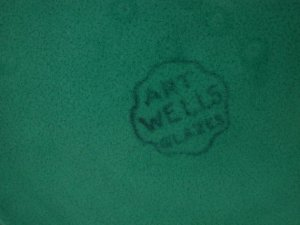 Wells Art Glaze back stamp.