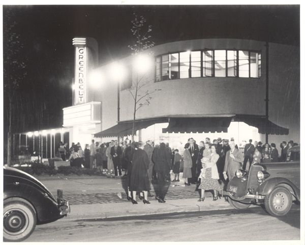 Opening night of the Greenbelt Theatre, 1938.