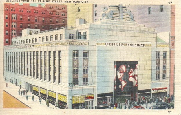 Post Card view of the Arilines Terminal.
