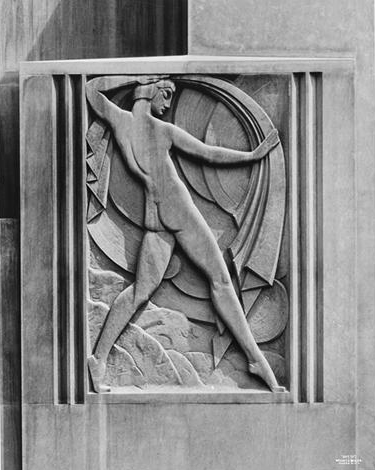 Dancing lady frieze - Stewart and Company Building.
