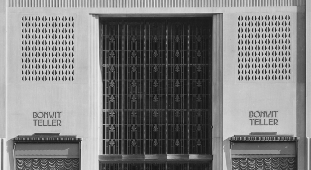 Grillwork over the Bonwit Teller entrance.