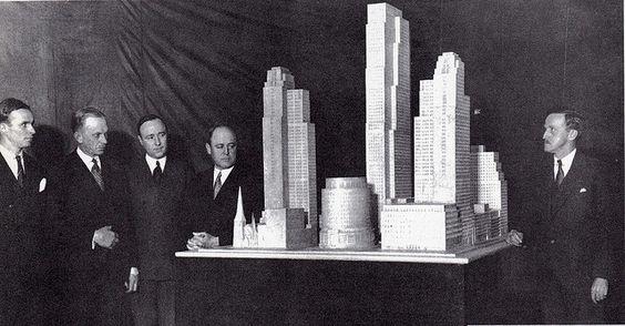 1931 Rockefeller Center model.