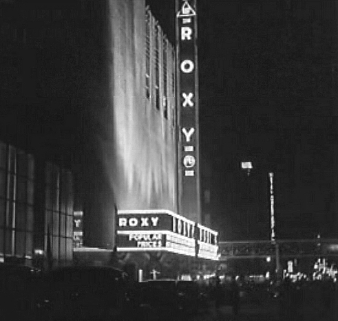 Marquee on opening night, 1932.