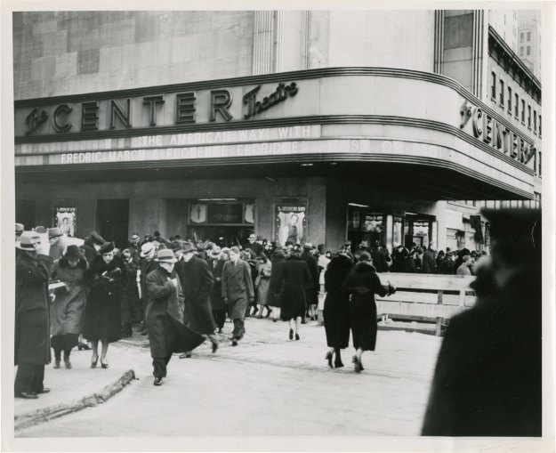 The Center Theatre in 1939.