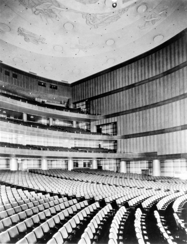 Rear and side of the auditorium, 1932.