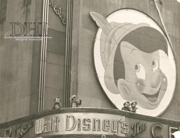 The Center Theatre Pinocchio premiere, 1940.